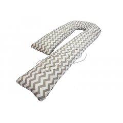 Подушка для беременных «J» образная (с наволочкой) - Зигзаг