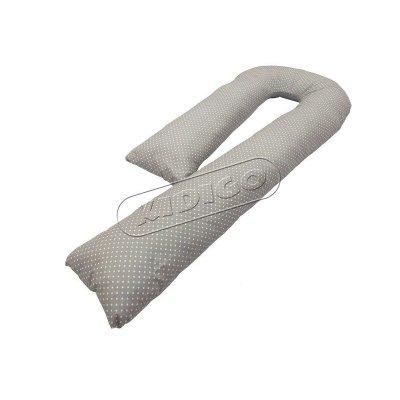 Подушка для беременных «J» образная (с наволочкой) - Горошек