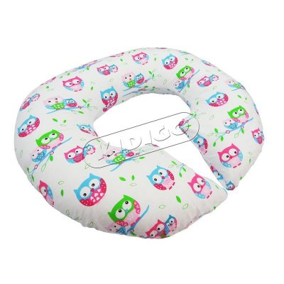 Подушка для беременных «Рогалик» с наволочкой - Совы