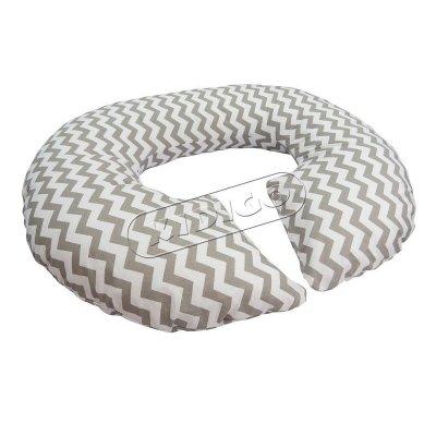 Подушка для беременных «Рогалик» с наволочкой - Зигзаг