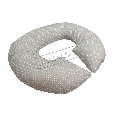 Подушка для беременных «Рогалик» с наволочкой - Горошек