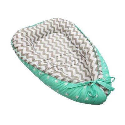 Кокон для новорожденного - Зигзаги-звездочки