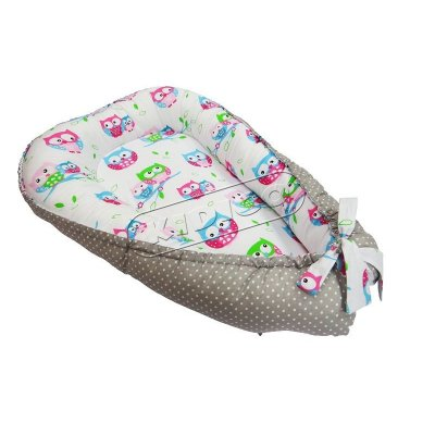 Кокон для новорожденного - Совы-горошек 2