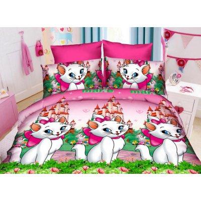 Детское полуторное постельное белье Кошечка Мери