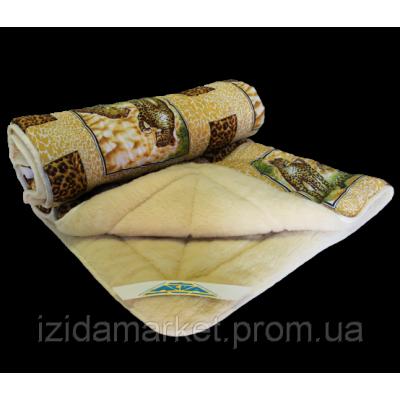 Меховое двуспальное одеяло - ткань полиестр