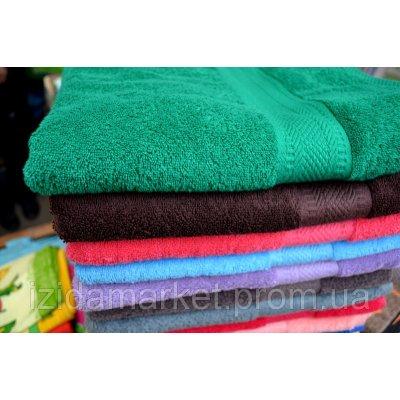 Однотонное махровое полотенце Узбекистан для бани