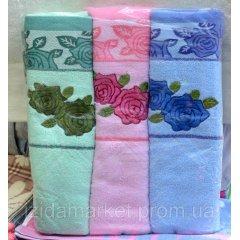 Банное полотенце роза с полочкой
