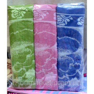 Махровое полотенце для лица - с розами