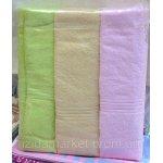 Махровое полотенце для лица - с маками