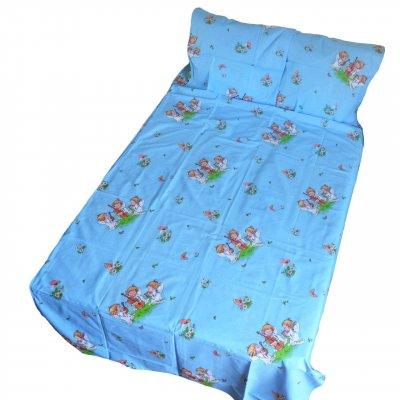 Детское полуторное постельное белье - ангелочки