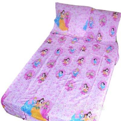 Детское полуторное постельное белье - принцессы
