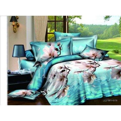 Семейное постельное белье - Цветы у моря - Сатин Люкс коллекция 2014