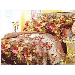 Семейное постельное белье - Мелкие розы -Поплин фирмы Вилюта