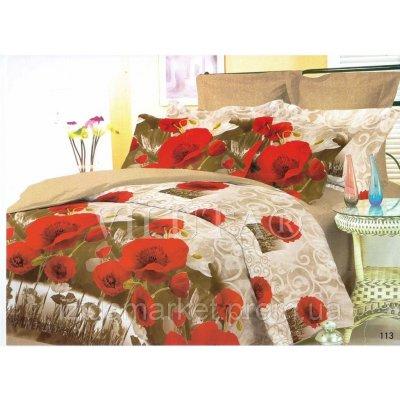 Семейное постельное белье - Маки -Поплин фирмы Вилюта