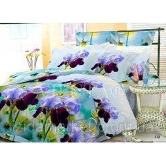Семейное постельное белье - Фиалки -Поплин фирмы Вилюта