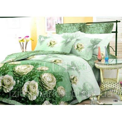 Семейное постельное белье - Белые розы -Поплин фирмы Вилюта