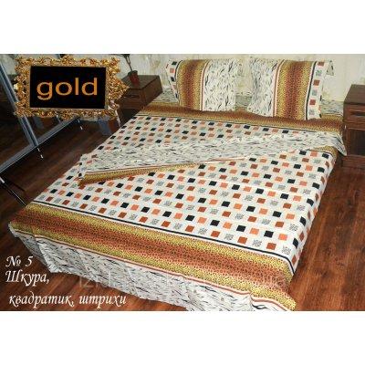 Шкура с штрихами - Двуспальное постельное белье бязь gold