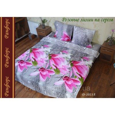 Лилии на камнях - полуторное белье бязь Ранфорс