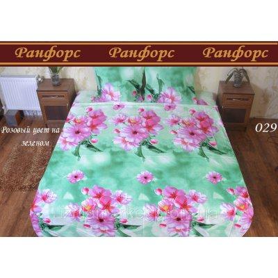 Розовые цветы - Семейное постельное белье Ранфорт