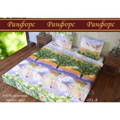 Лебеди - Семейное постельное белье Ранфорс