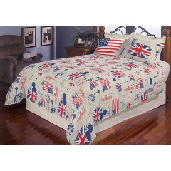 Евро постельное белье  Бязь Голд - Английский флаг
